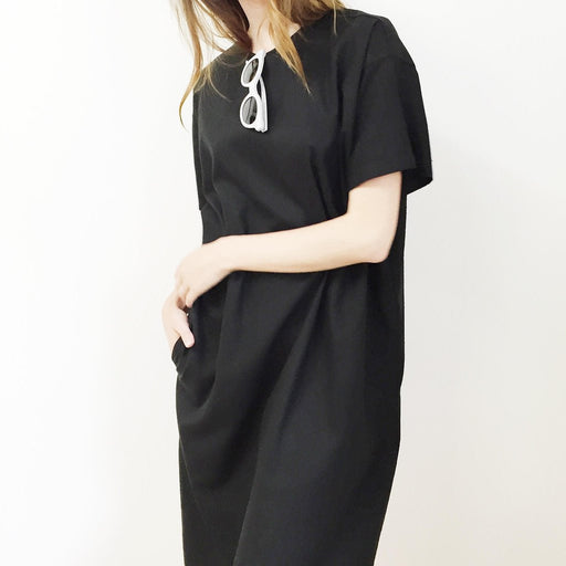 Raw Silk T-Shirt Dress