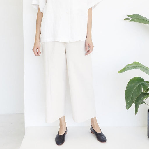 Natural Cotton Canvas Pant