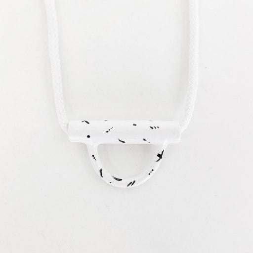 Speckled U-Lock Necklace