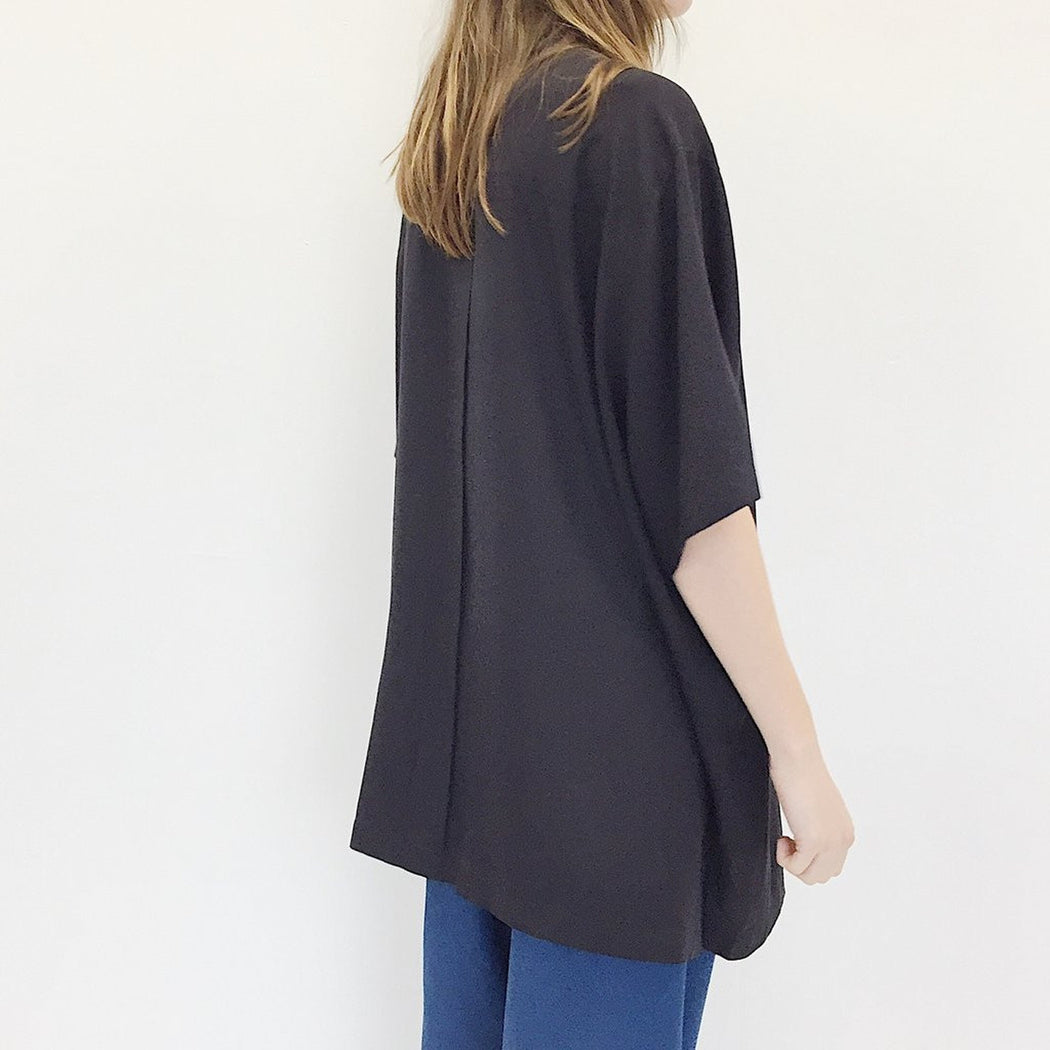 Oversized Silk Shirt