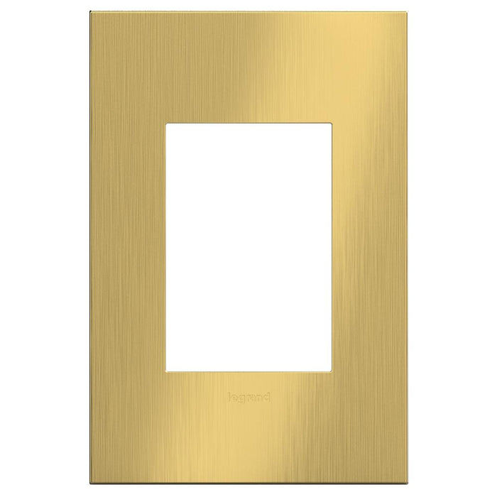 Adorne Cast Metals 1-Gang + Wall Plate, Brushed Satin Brass