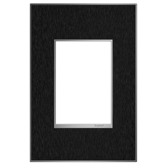 Adorne Real Materials 1-Gang + Wall Plate, Black Stainless