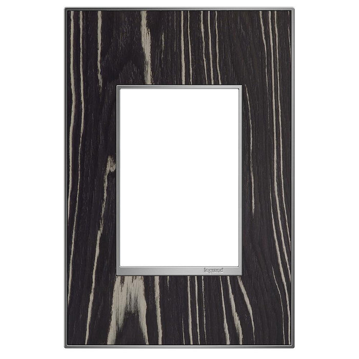 Adorne Real Materials 1-Gang + Wall Plate, Macassar
