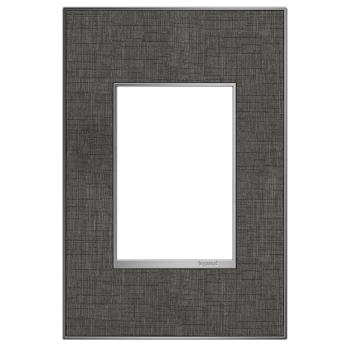 Adorne Real Materials 1-Gang + Wall Plate, Slate Linen