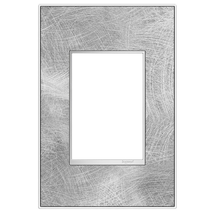 Adorne Real Materials 1-Gang + Wall Plate, Spiraled Stainless