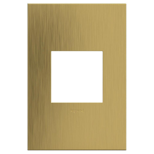 Adorne Cast Metals 1-Gang Wall Plate, Brushed Satin Brass