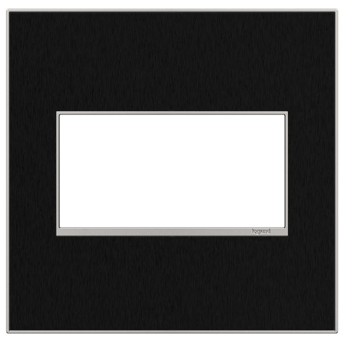 Adorne Real Materials 2-Gang Wall Plate, Black Stainless