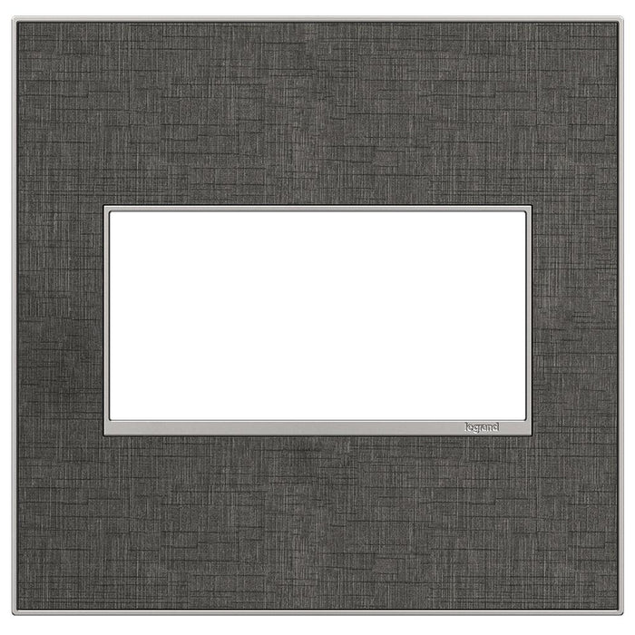 Adorne Real Materials 2-Gang Wall Plate, Slate Linen