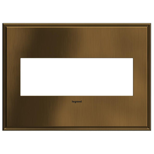Adorne Cast Metals 3-Gang Wall Plate, Coffee