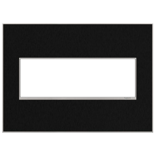 Adorne Real Materials 3-Gang Wall Plate, Black Stainless