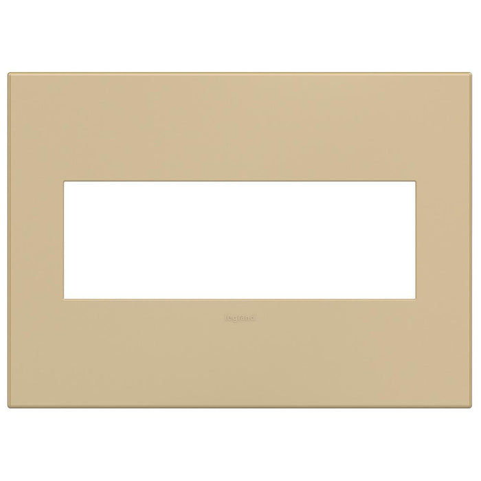 Adorne Plastics 3-Gang Wall Plate, Golden Sands