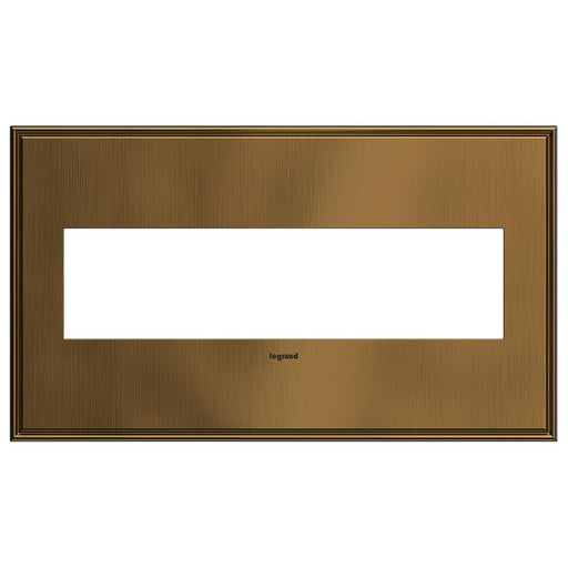 Adorne Cast Metals 4-Gang Wall Plate, Coffee