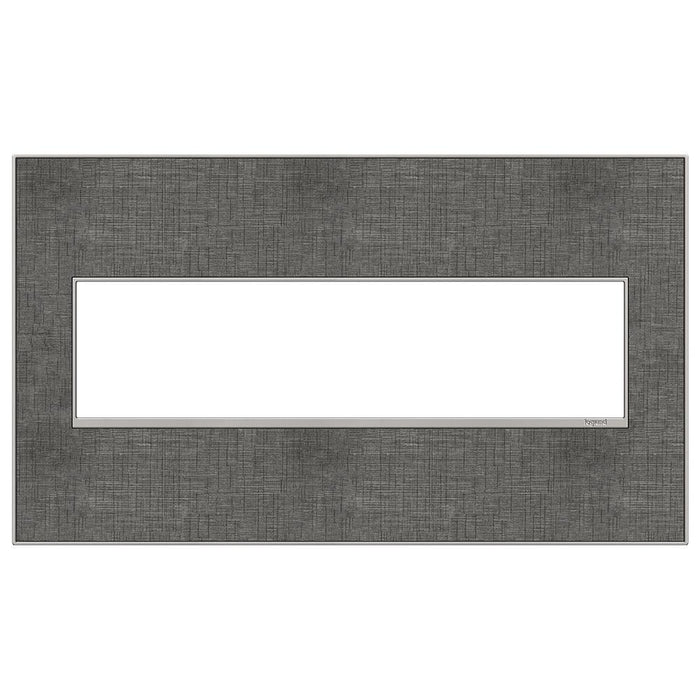 Adorne Real Materials 4-Gang Wall Plate, Slate Linen