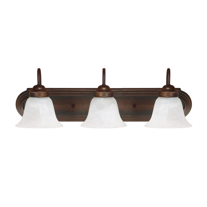 an image of Capital Lighting Capital Vanities 3 Light Vanity in Burnished Bronze