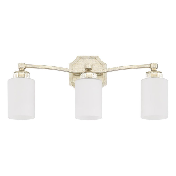 an image of Capital Lighting Olivia 3 Light Vanity in Winter Gold
