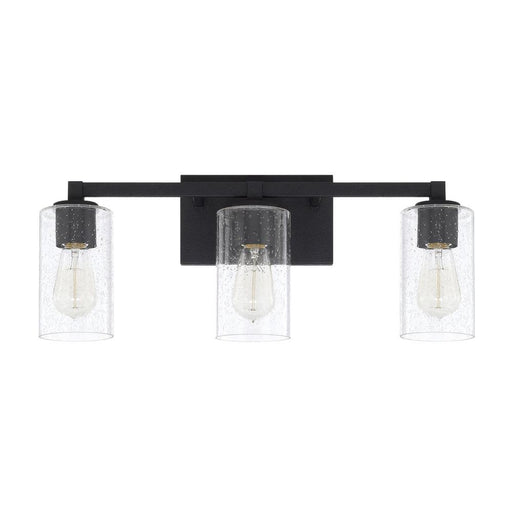 an image of Capital Lighting Ravenwood 3 Light Vanity in Black Iron