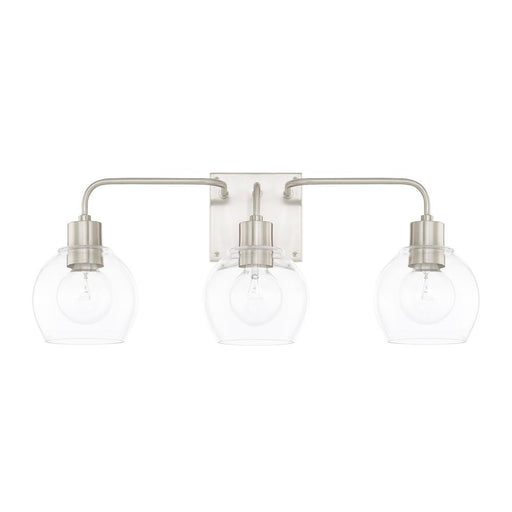 an image of the three light vanity by capital lighting, homeplace/tanner collection 120031BN-426