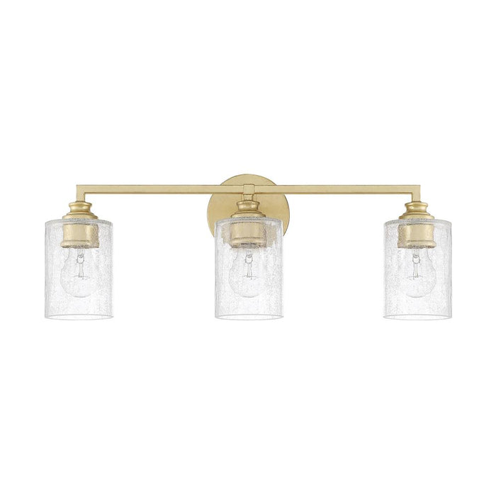 an image of Capital Lighting Milan 3 Light Vanity in Capital Gold
