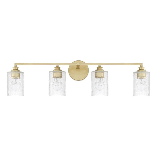 an image of Capital Lighting Milan 4 Light Vanity in Capital Gold