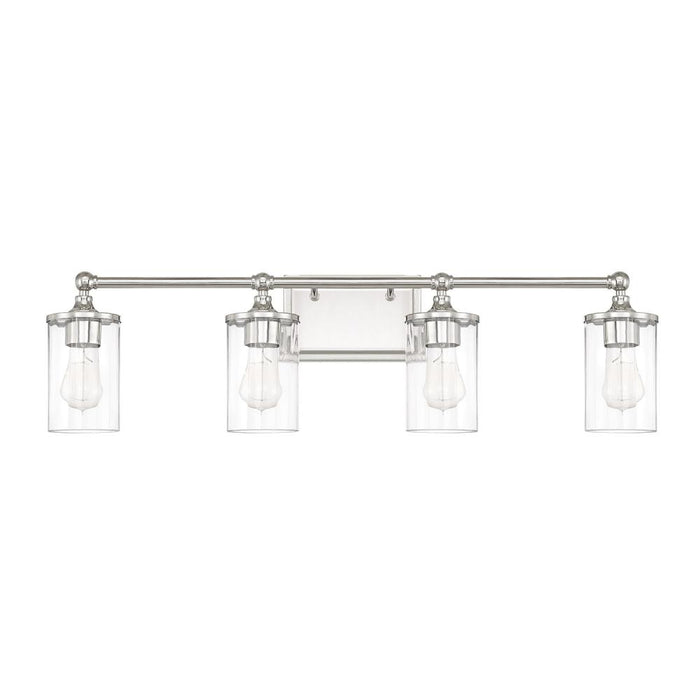 an image of Capital Lighting Camden 4 Light Sconce in Polished Nickel