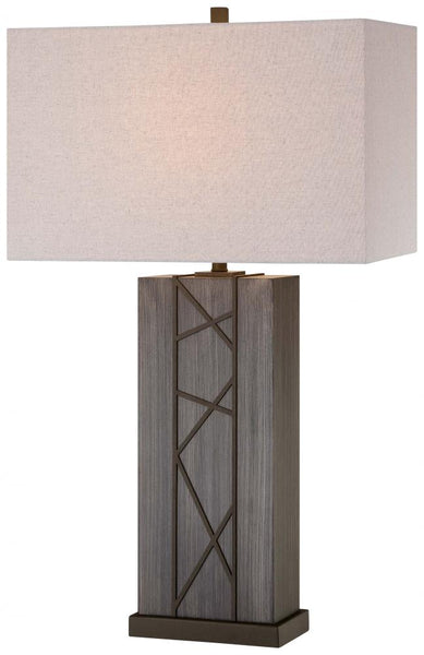 Minka-Lavery 12419-0 1 Light Table Lamp, Smoked Iron