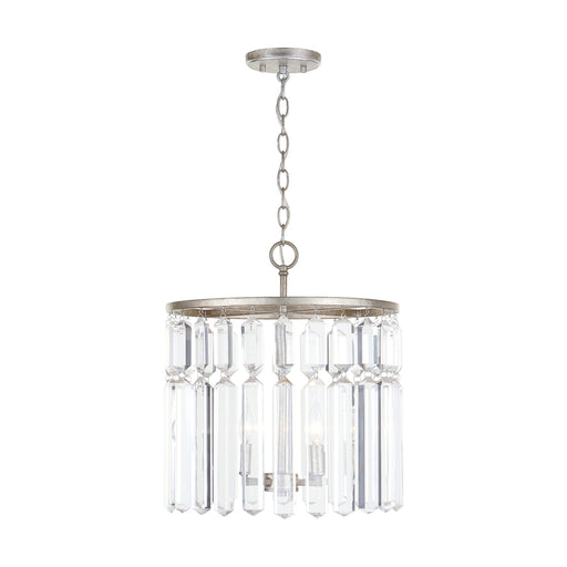 an image of Capital Lighting Drake 4 Light Semi-Flush in Antique Silver