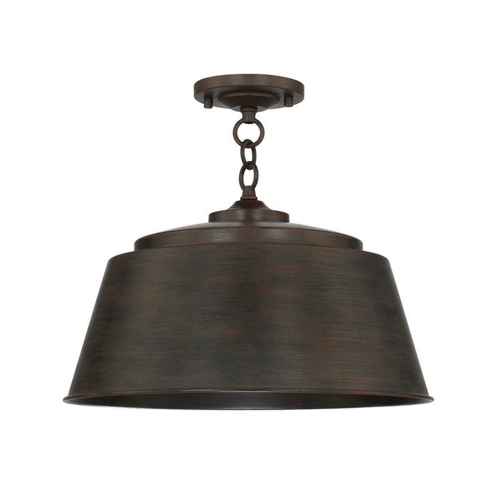 an image of Capital Lighting Tybee 1 Light Semi-Flush in Nordic Grey