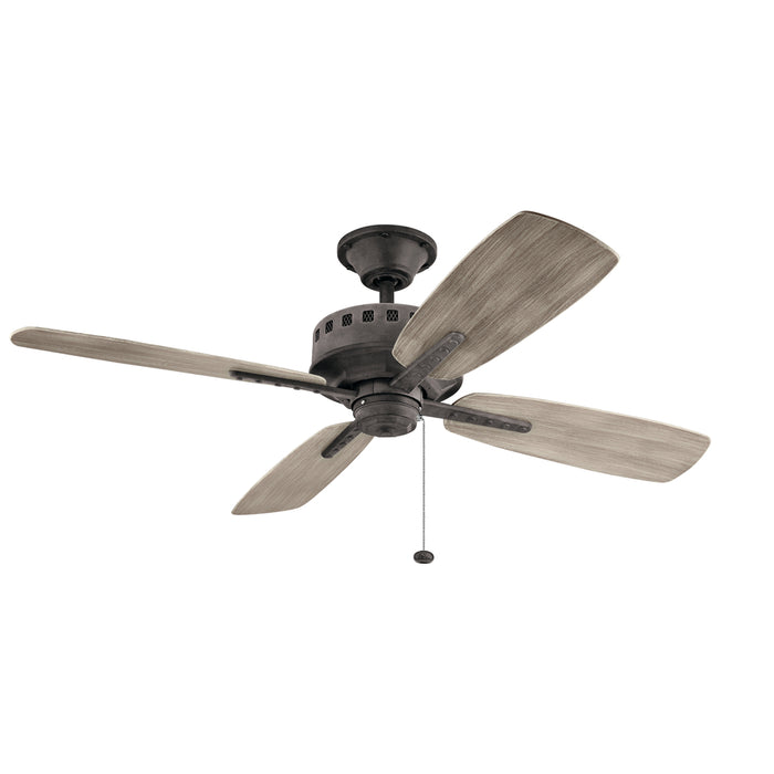 "4-Blade Eads Patio Ceiling Fan, 52"" Blade Sweep"
