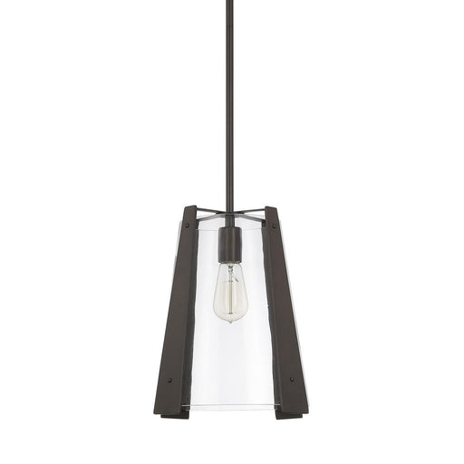 an image of Capital Lighting 1 Light Pendant in Burnished Bronze