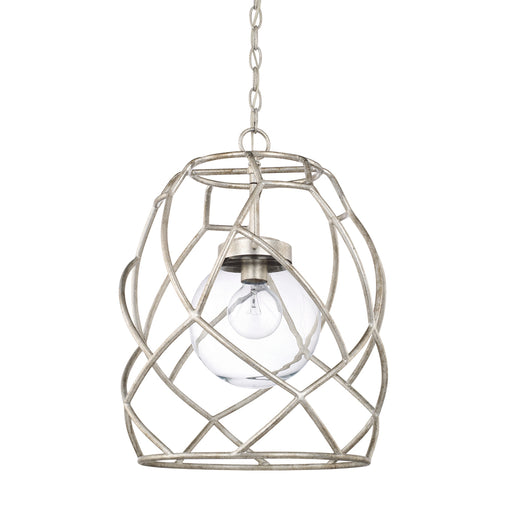 an image of Capital Lighting 1 Light Pendant in Antique Silver
