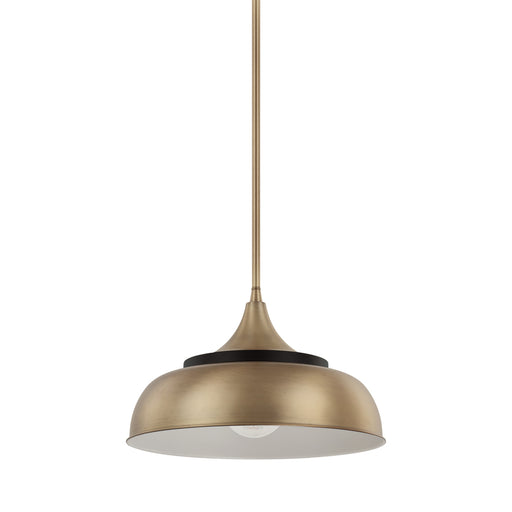 an image of Capital Lighting 1 Light Pendant in Brass and Onyx