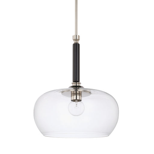 an image of Capital Lighting 1 Light Pendant in Black Tie