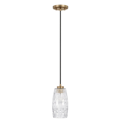 an image of Capital Lighting 1 Light Pendant in Aged Brass