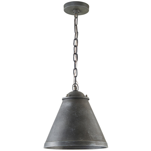 an image of Capital Lighting 1 Light Pendant in Anitque Grey