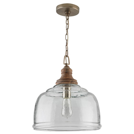 an image of Capital Lighting 1 Light Pendant in Grey Wash