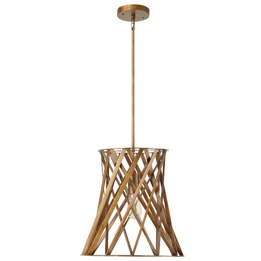 an image of Capital Lighting 1 Light Pendant in Patinaed Brass