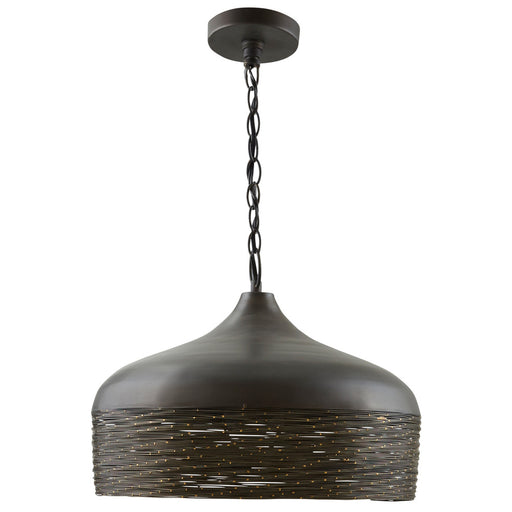 an image of Capital Lighting 1 Light Pendant in Grey Iron
