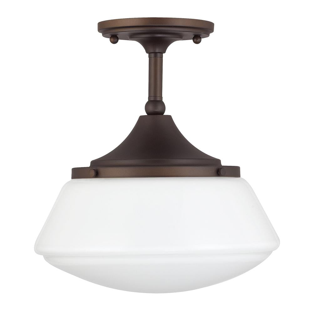 Capital Lighting 3533BB-129 - Baxter 1 Light Semi-Flush, Burnished Bronze
