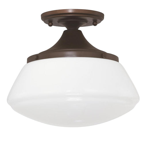 an image of Capital Lighting Capital Ceilings 1 Light Ceiling Fixture in Burnished Bronze
