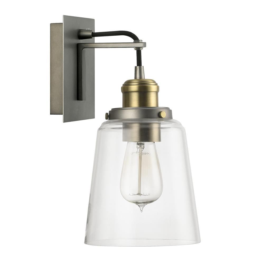 Capital Lighting 3711GA-135 - Sconce 1 Light Sconce, Graphite With Aged Brass