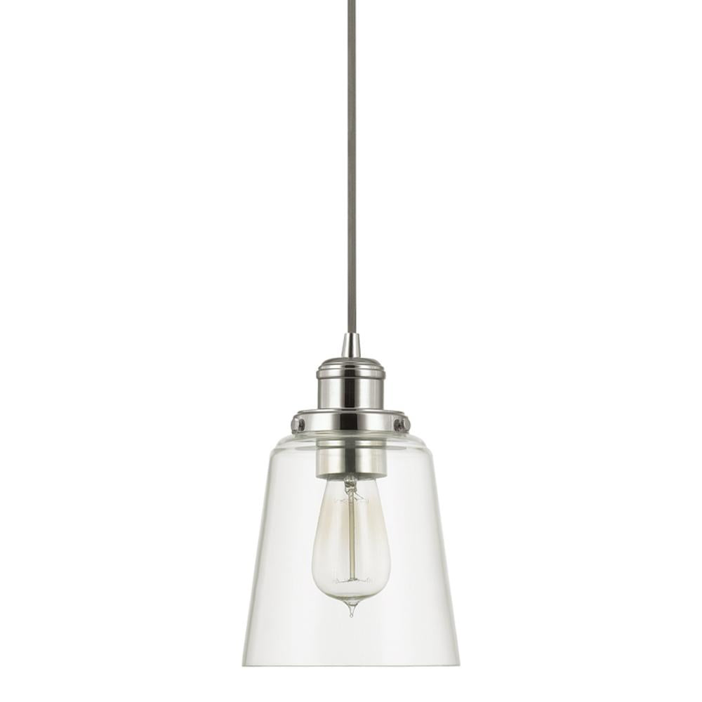 Capital Lighting 3718PN-135 - Pendants 1 Light Mini Pendant, Polished Nickel