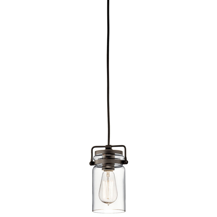 "Brinley 1 Light Mini Pendant, 4.75"" Wide"