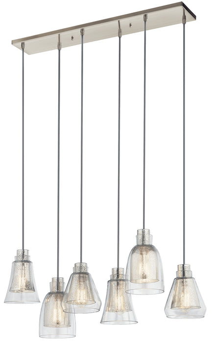 Evie Linear Chandelier 6Lt
