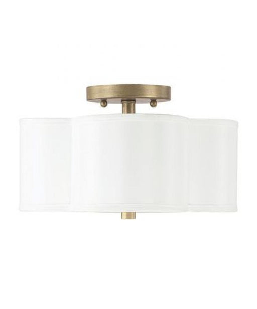 an image of Capital Lighting Quinn 2 Light Semi-Flush in Brushed Gold