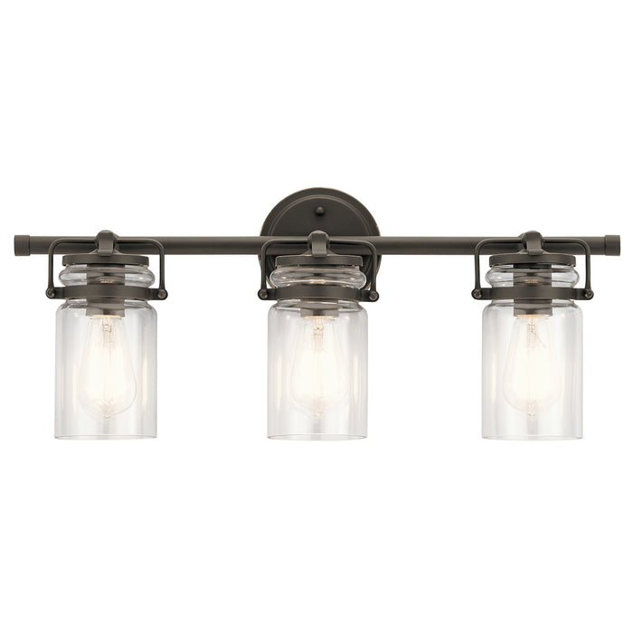 an image of kichler brinley 3 light in olde bronze