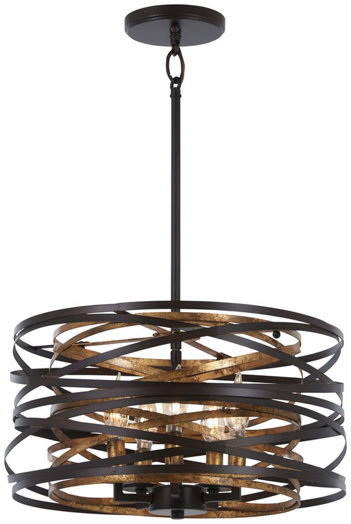 Minka Lavery Vortic Flow - 5 Light Pendant (Convertible To Semi Flush)