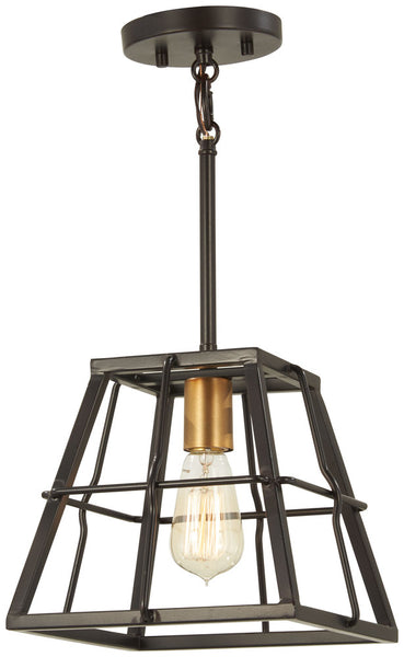 Minka-Lavery 4761-416 Keeley Calle Mini Pendant, Painted Bronze W/Natural Brush