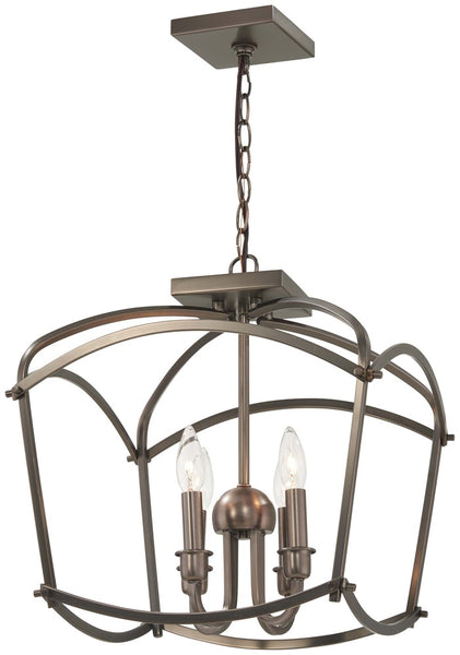 Minka-Lavery 4773-281 Jupiter's Canopy Semi Flush, Polished Nickel