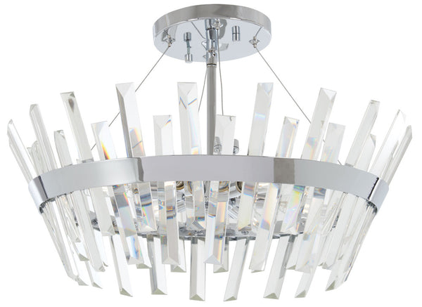 Minka-Lavery 4811-77 Echo Radiance Semi Flush, Chrome