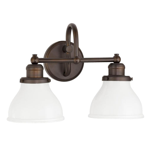 an image of Capital Lighting Baxter 2 Light Vanity in Burnished Bronze